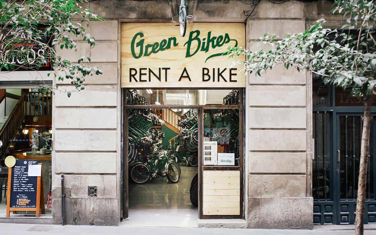 Bike rental Barcelona Green Bikes
