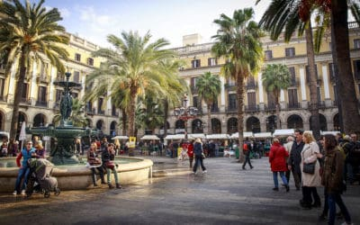 plaza real barcelona spain