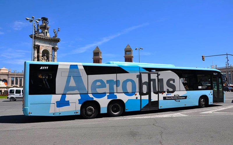 aerobus barcelona airport bus transfer