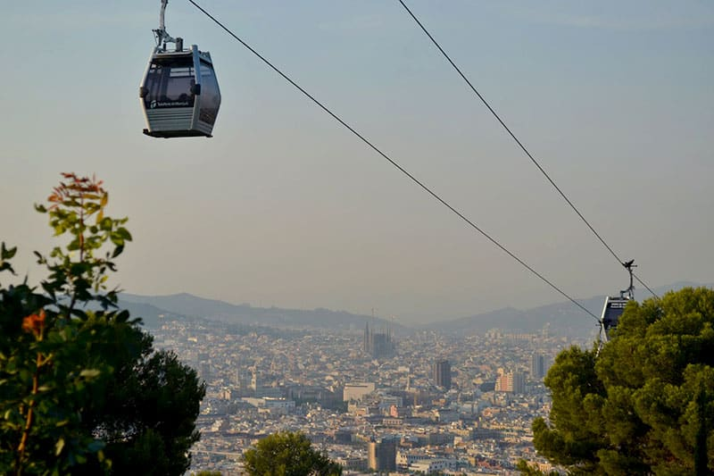 barcelona cable car tickets and route